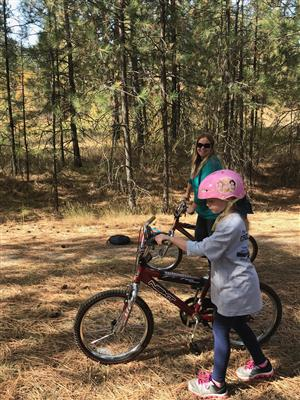 Showing perseverance during bike riding