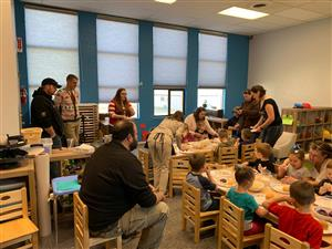 Thanksgiving With Families at the Early Learning Center