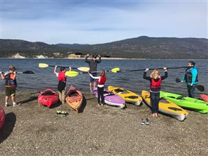 Kayaking on Lake Roosevelt!