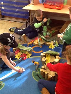 Using creative play to tell a story.